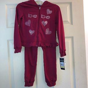 NWT! Bebe matching set hoodie & pants Size 6
